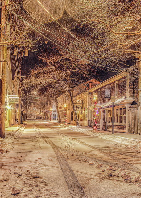 Edgartown Snow  Art | Michael Blanchard Inspirational Photography - Crossroads Gallery