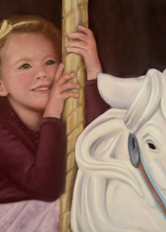 On a carousel, Dream Rider by Nancy Conant