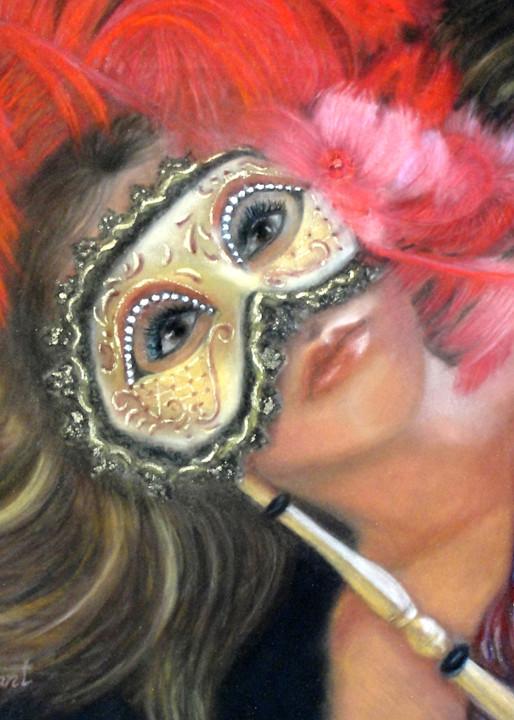 Girl in a mask, Masked Meghan by Nancy Conant