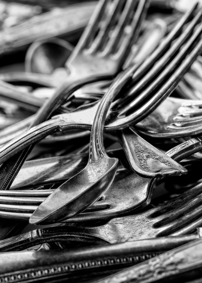 John E. Kelly Fine Art Photography – Spoons and Forks - Silver