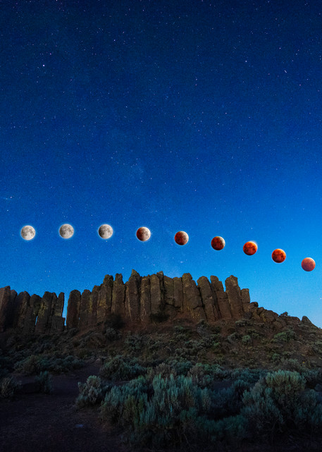 Blood Eclipse Over Feathers Photography Art | Call of the Mountains Photography