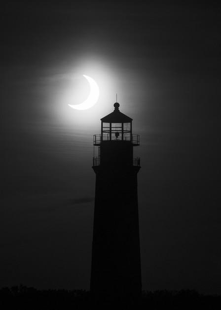 Eclipse Over Sankaty Light  Photography Art   Kit Noble Photography