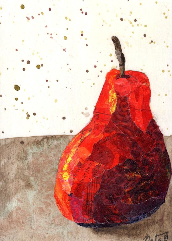The Red Pear: Bartlett Art   Poppyfish Studio