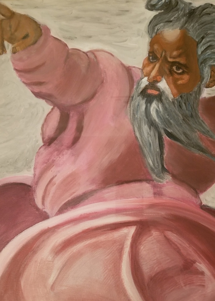Painting Of Michelangelo S God Creating The Sun Art   Salvatore Ingoglia / Jbellarts