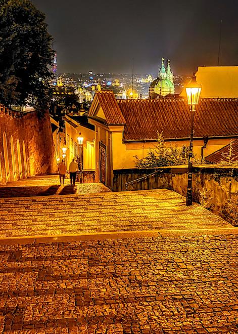 A Couple Heading Home In Prague Photography Art | Photoissimo - Fine Art Photography