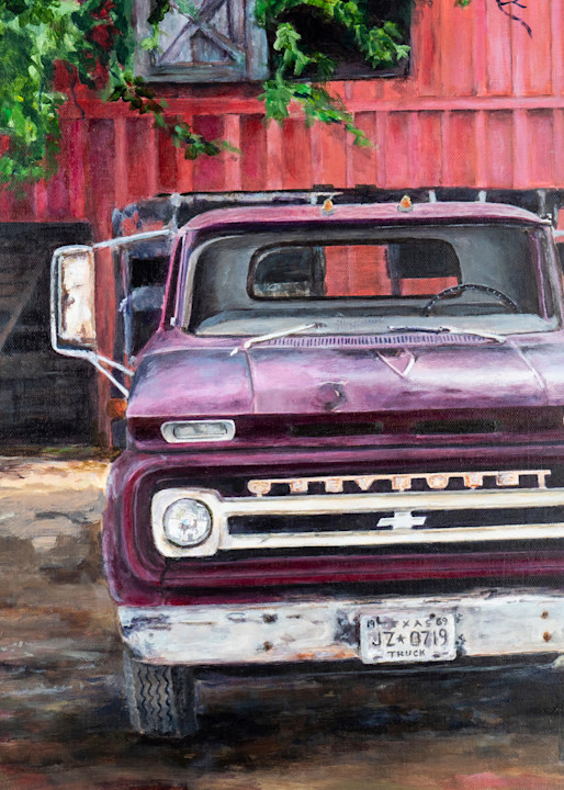 Vintage Chevy  Art   Jennifer Zardavets Art