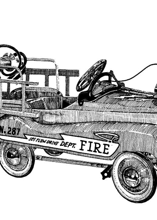 Fire Truck Art | Andre Junget Illustration LLC