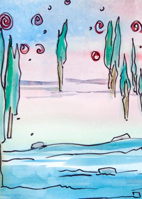 Cherry Pop Sky   New Art | Elaine Schaefer Hudson Art