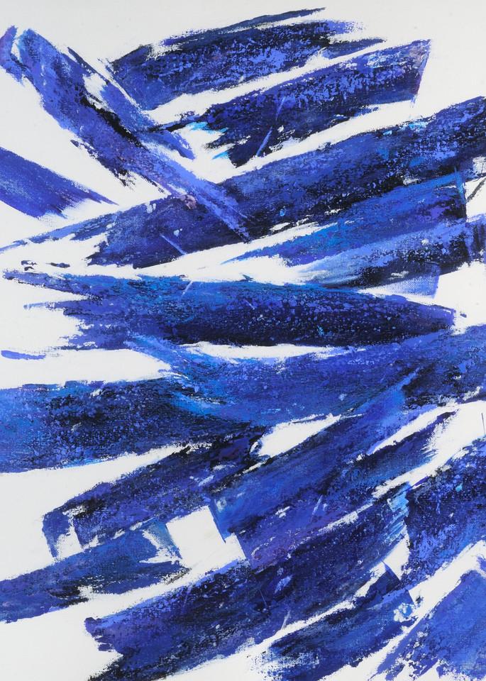 Brush Strokes Cream Art   Joan Bixler Art