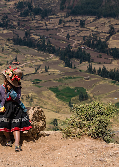 Girl above the valley
