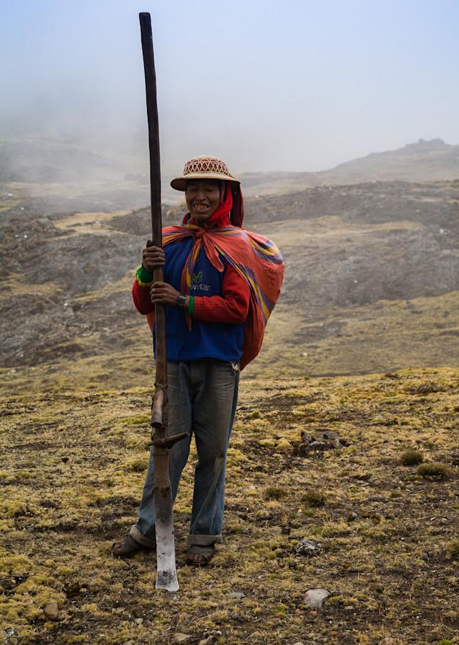 Portrait of a Peruvian farmer