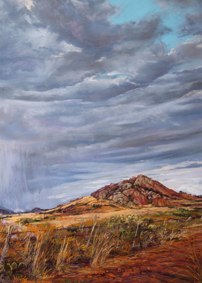 Lindy Cook Severns Art   A Welcome Drenching, print