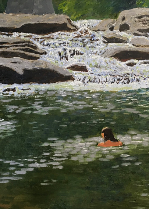 Swimmers At Audra Park Art   JoemcInroy