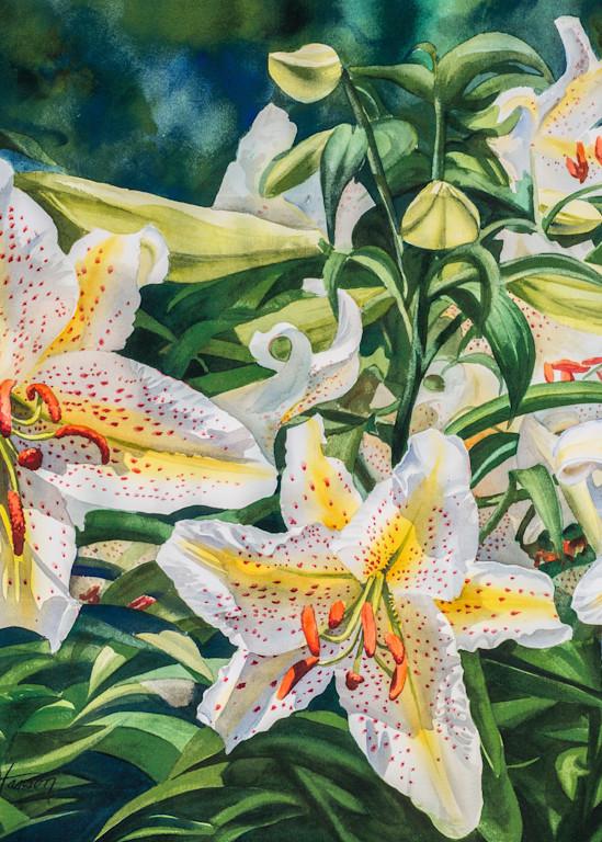 White Lilies Art | Leanne Hanson Art