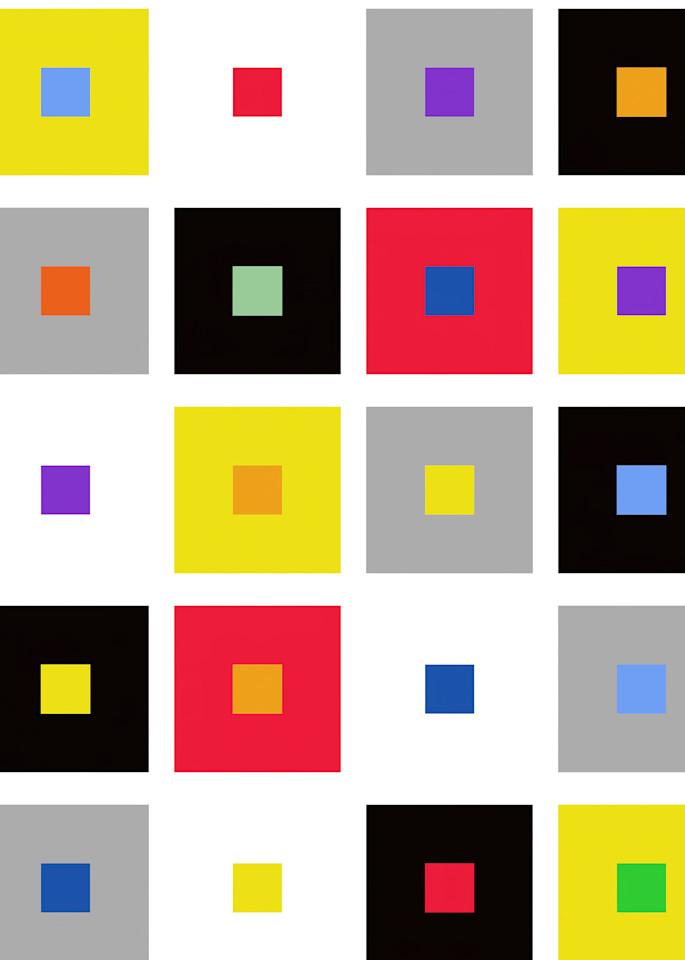 Color Square Pattern Art   karenihirsch