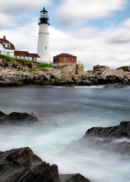 Rising Tide at Portland Head Lighthouse - Maine fine-art photography prints