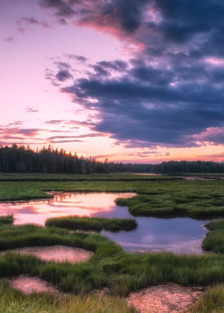 Sunset at Bass Harbor Marsh - Acadia National Park fine-art photography prints