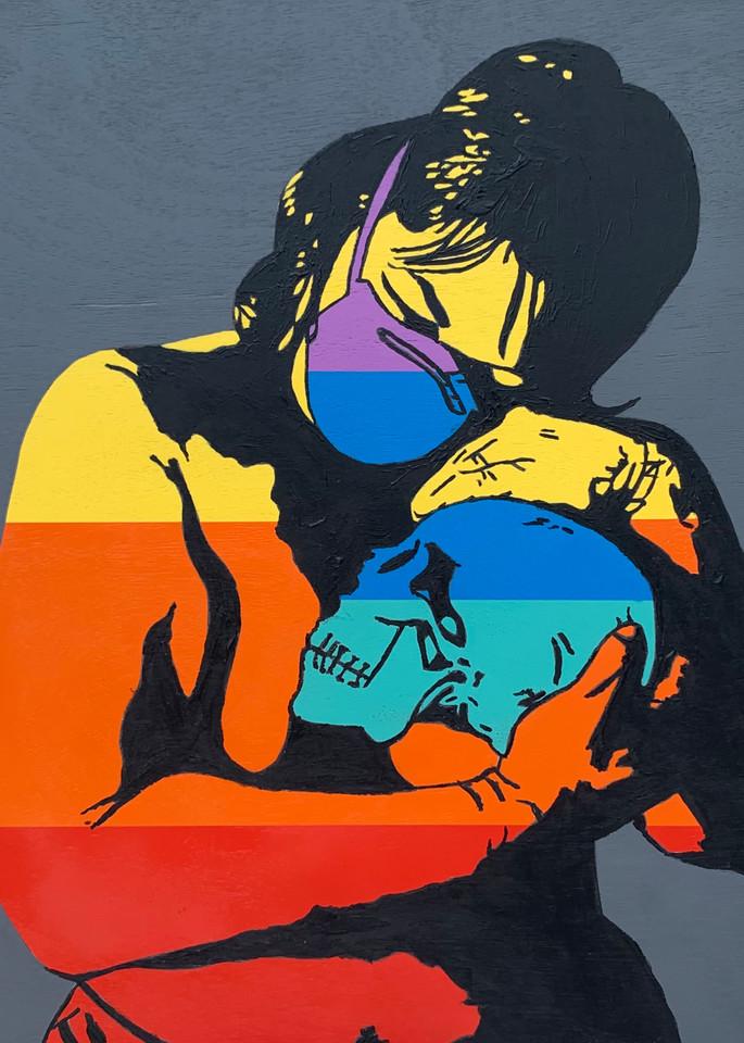 Mask & Skull, Print Art   Jon Savage Contemporary Art