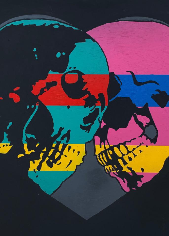 Two Skulls, Print Art | Jon Savage Contemporary Art