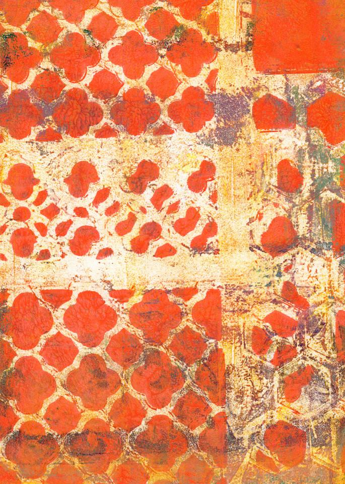 Orange Grunge Art   Jennifer Akkermans