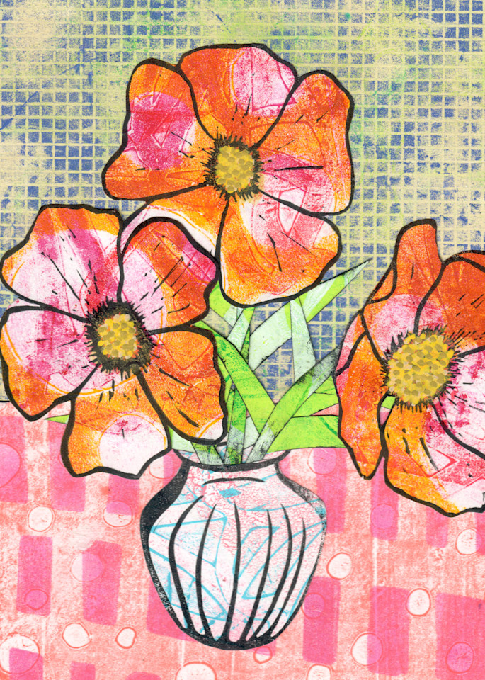 Orange Blooms Art | Jennifer Akkermans