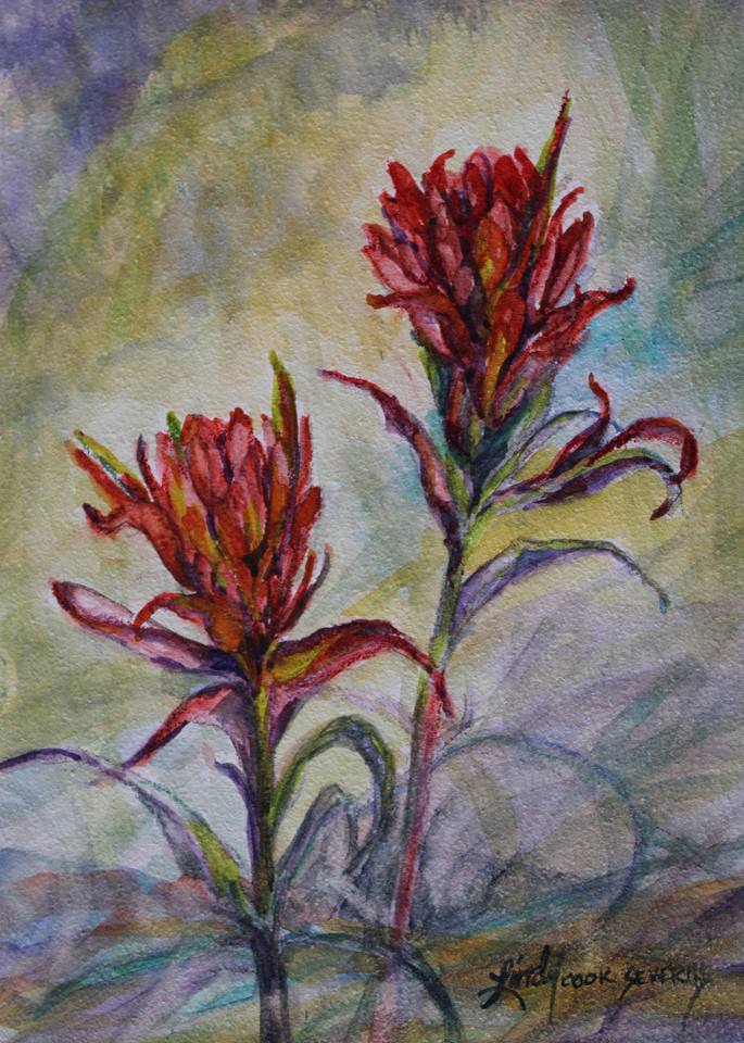 Lindy Cook Severns Art | Texas Paintbrushes, print