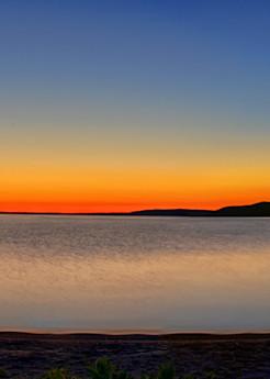Crystal Lake At Sunset