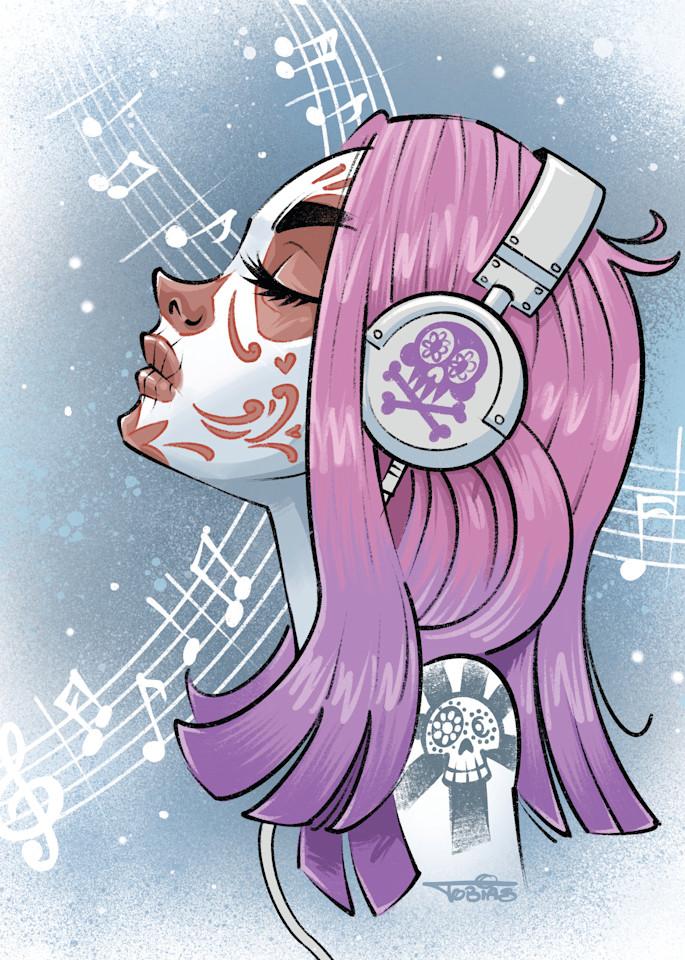 Sugar Skull Tunes 2.0 Art | Art By Tobias