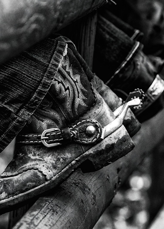 Boots and Spurs in B&W