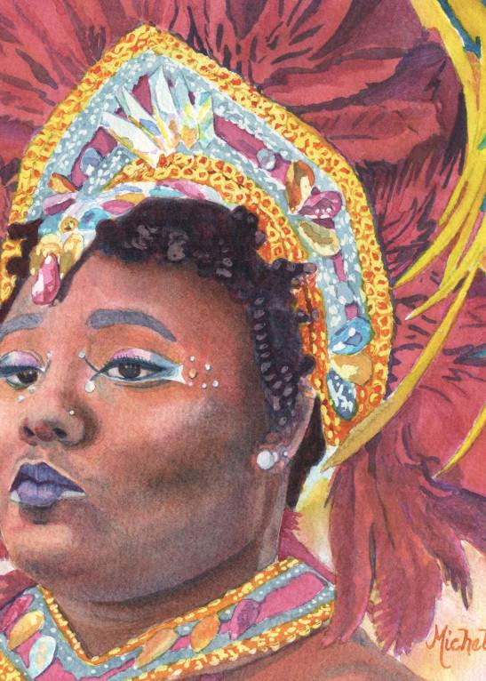 15. Zuriah   Crucian Carnival Series Xv Art | Michele Tabor Kimbrough