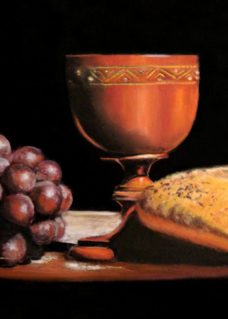 The Communion painting Bread and Wine by Nancy Conant