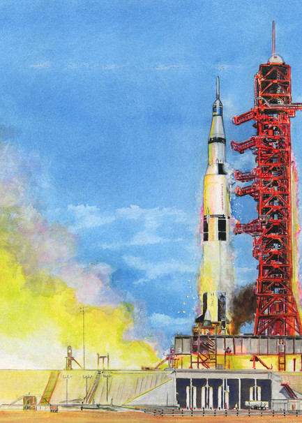 Launch Art   Artwork by Rouch