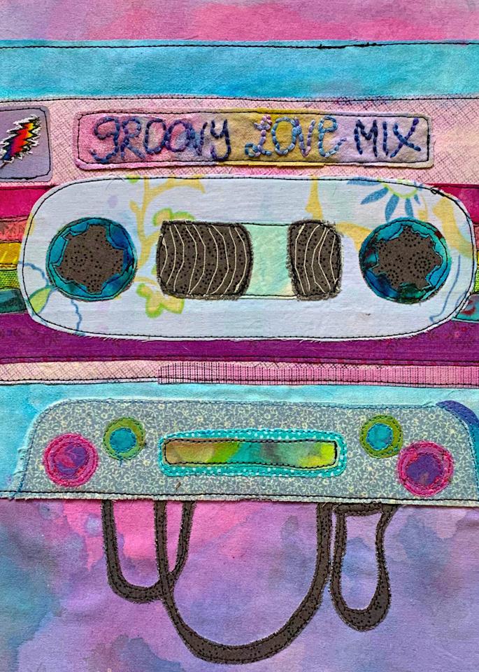 Groovy Love Mix Tape Art   Karen Payton Art