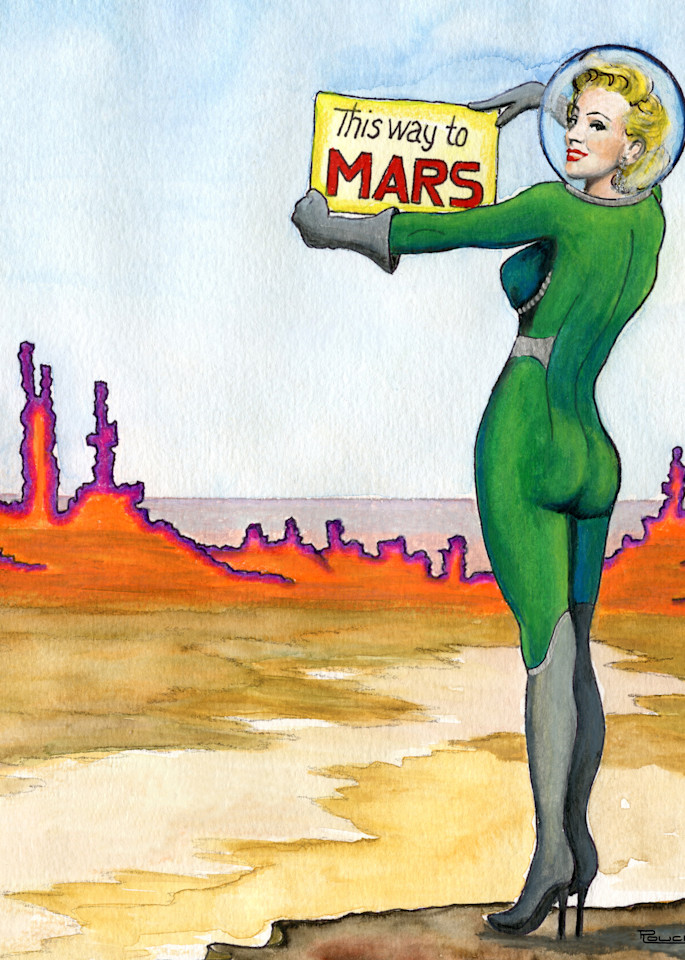 This Way To Mars Art | Artwork by Rouch