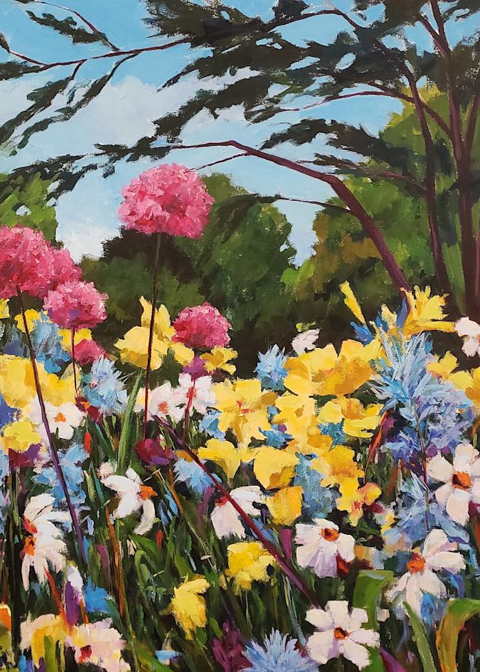 Longwood Alliums Ii  Art   Jenn Hallgren Artist
