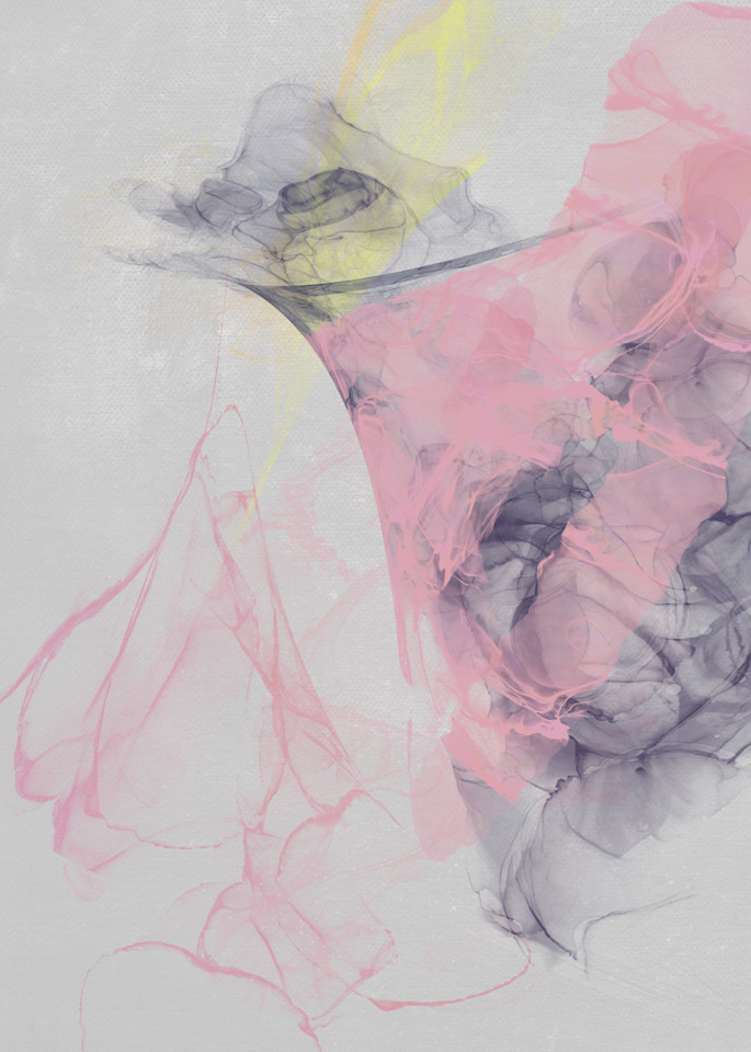 Grey And Pink Abstract Art   onlythemoon