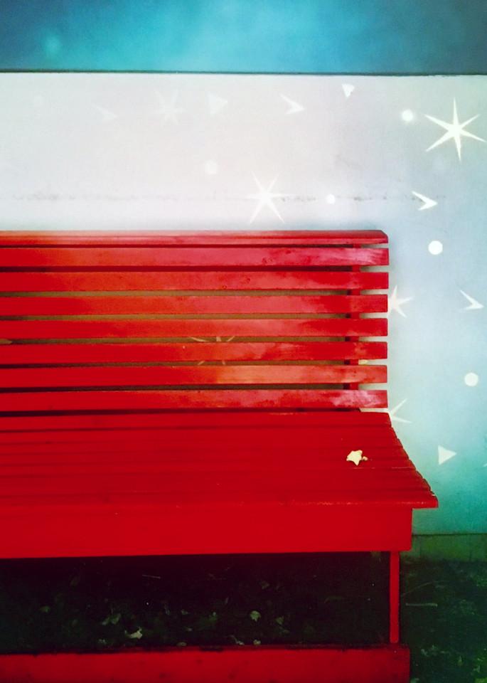 Red Bench Art | Donna Starnes Creative