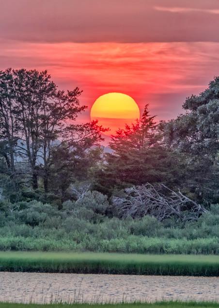 Sengekontacket Late Summer Sunset Art   Michael Blanchard Inspirational Photography - Crossroads Gallery