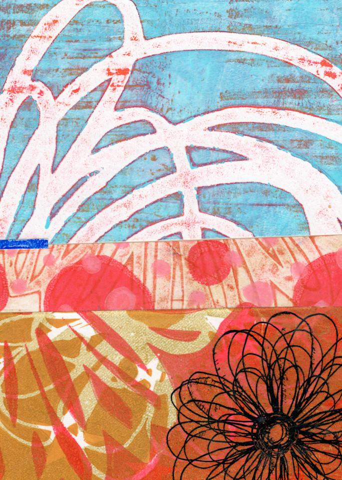 Hot Spring: A Mixed Media artwork by Jennifer Akkermans