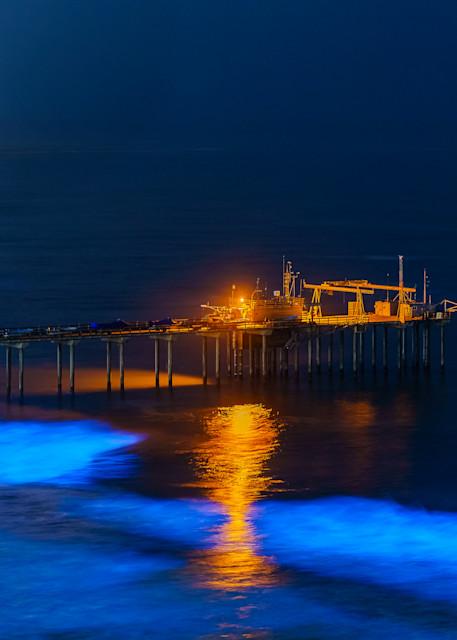 Bioluminescence at Scripps Pier, La Jolla Fine Art Print
