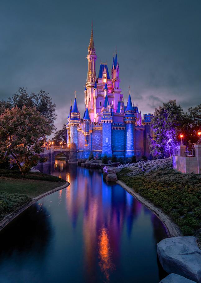 The Evening Glow of Cinderella Castle - Disney Art | William Drew Photography