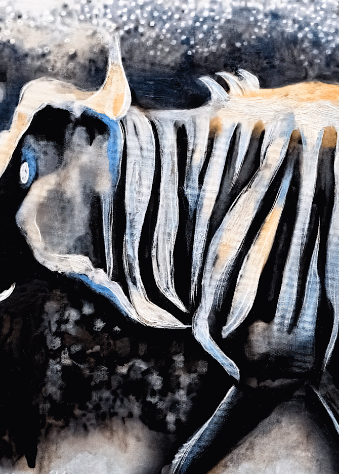 Study for Wildebeest, No. 2, 2011 by artist Carolyn A. Beegan