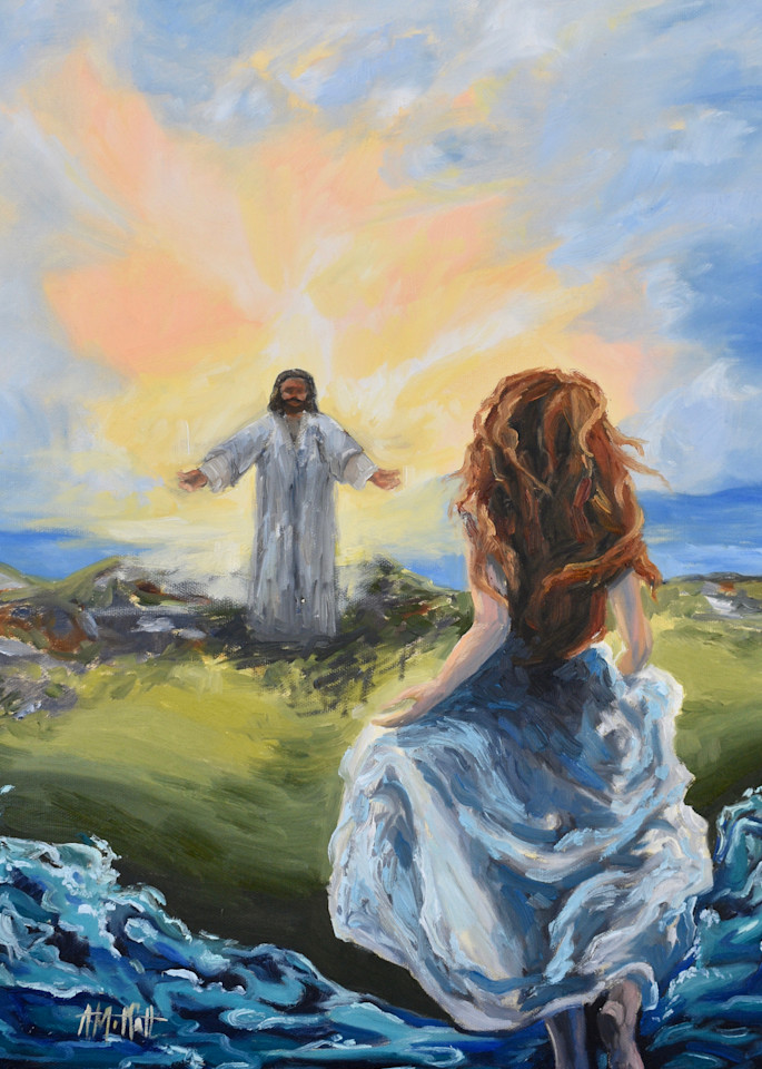Giclee Print Running to the Savior on the Marsh by April Moffatt