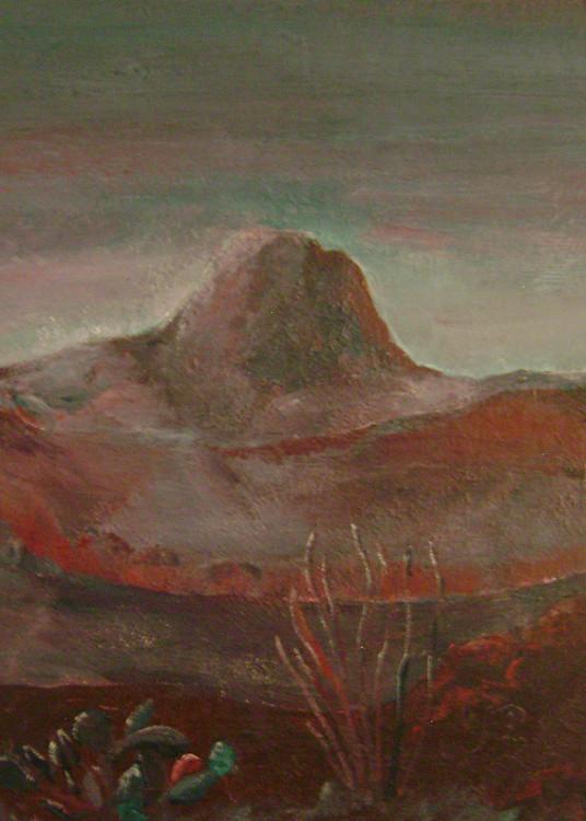 Santiago Peak from Black Hills Burgundy