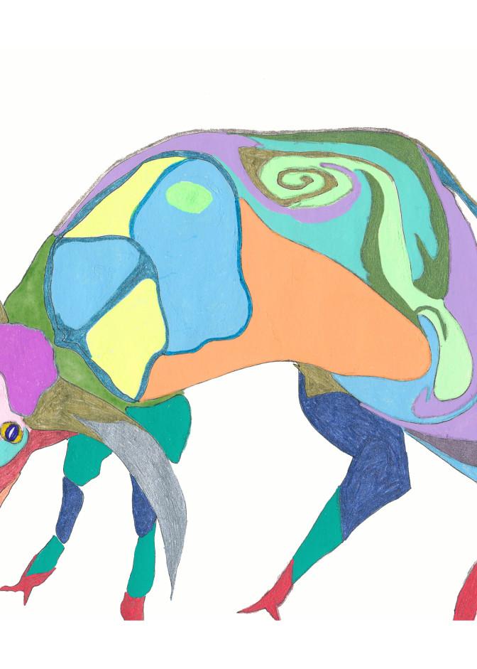 Ruby Cow Art | Pam White Art