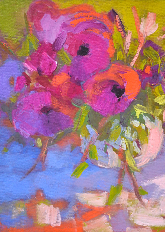 Colorful Flower Art, Limited Edition by Dorothy Fagan