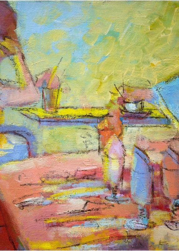 Paris Cafe Scene Painting, Fine Art Print by Dorothy Fagan