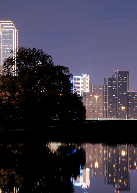 Close-up Shot of Downtown Dallas Skyline