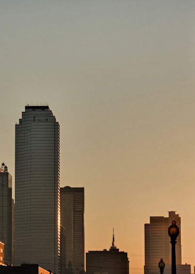 Dallas Skyline At Dawn 9 Photography Art | Drone Video TX