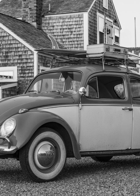 1968 Vw Beetle With  Surfboard #1 Photography Art | Kit Noble Photography